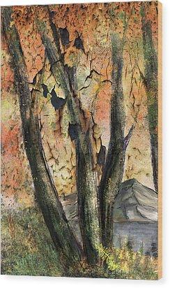 Fall Splendor  Wood Print by Annette Berglund