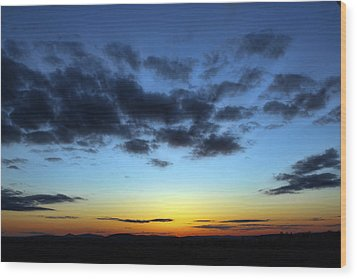 Wood Print featuring the photograph Fall Sunset by Gary Smith