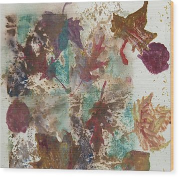 Fall Treasures Wood Print by Claudia Smaletz