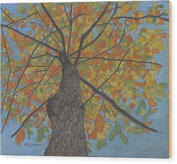 Fall Up Wood Print
