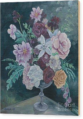 Fall Vase Wood Print by Jana Goode