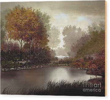 Fall Waters Wood Print by Robert Foster