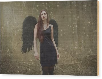Wood Print featuring the photograph Fallen Angel by Brian Hughes