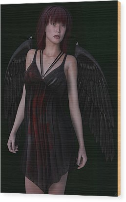 Fallen Angel Wood Print