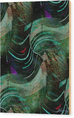Wood Print featuring the digital art Fallen Angle by Sheila Mcdonald
