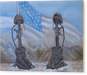 Fallen Heroes Wood Print