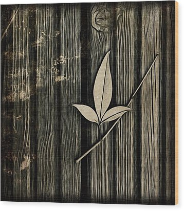 Fallen Leaf Wood Print by John Edwards