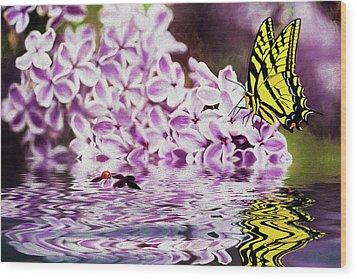 Fallen Lilacs Wood Print by Diane Schuster