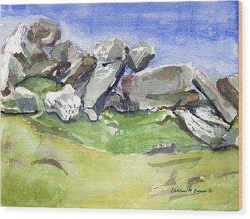 Fallen Stones Wood Print