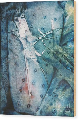 Falling Apart Wood Print by Shirley McMahon