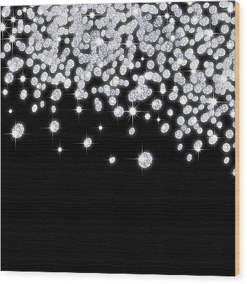 Falling Diamonds Wood Print by Setsiri Silapasuwanchai
