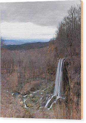 Falling Springs Panorama Wood Print by Alan Raasch