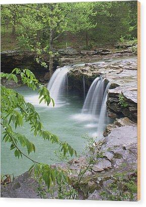 Falling Water Falls 4 Wood Print by Marty Koch