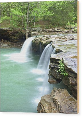 Falling Water Falls 5 Wood Print by Marty Koch