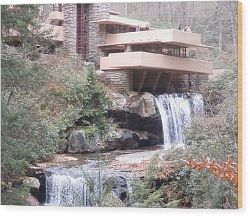 Falling Waters In November Wood Print by James Guentner