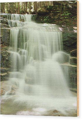 Falling Waters Wood Print by Roupen  Baker
