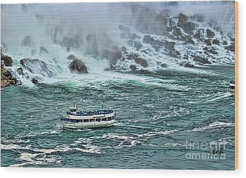 Wood Print featuring the photograph Falls Boat by Traci Cottingham