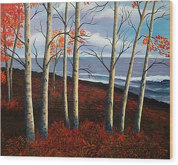 Fall's Charm Wood Print by Susan DeLain
