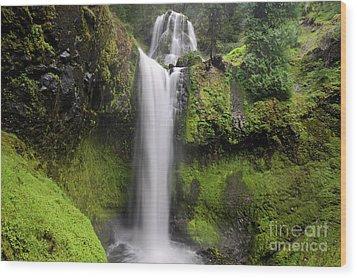 Falls Creek Falls In Washington  Wood Print