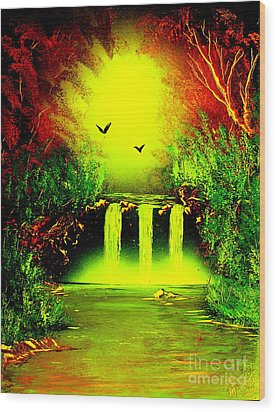 Falls08 E1 Wood Print