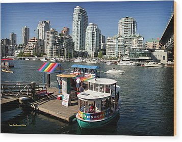 False Creek In Vancouver Wood Print by Tom Buchanan
