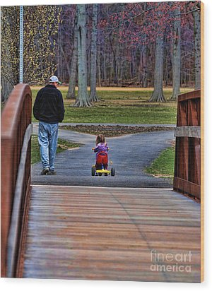 Family - A Father's Love Wood Print by Paul Ward