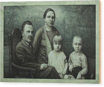 Family Portrait Wood Print by James W Johnson