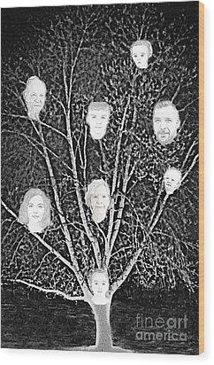 Family Tree Wood Print by Diamante Lavendar
