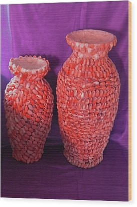Family Vase Wood Print by Arlin Jules