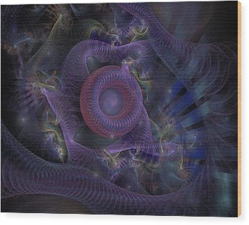 Wood Print featuring the digital art Fan Dancer - Fractal Art by NirvanaBlues