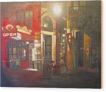 Fan Tan Alley Wood Print by Victoria Heryet