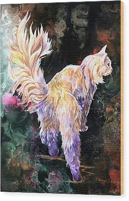 Wood Print featuring the painting Fancy Britches by Sherry Shipley