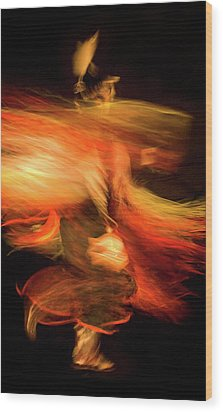 Fancy Dancer Wood Print by Jeremiah Armstrong