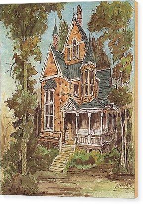 Fancy Old House 32 Wood Print by Aurelio Menna
