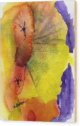 Wood Print featuring the painting Fandango by Marilyn Barton