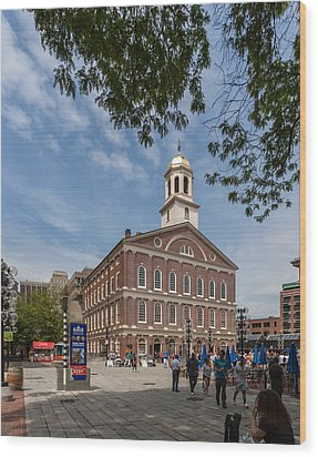 Faneuil Hall Boston Wood Print by Brian MacLean