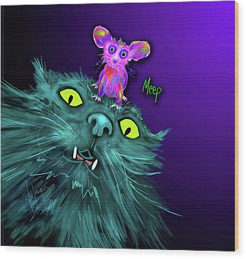 Fang And Meep  Wood Print by DC Langer