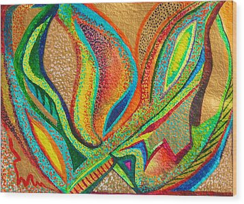 Fanning Flames Wood Print by Polly Castor