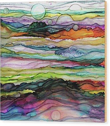 Fantascape Wood Print