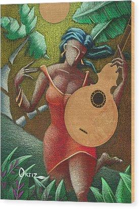 Fantasia Boricua Wood Print