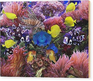 Fantasy Aquarium Wood Print