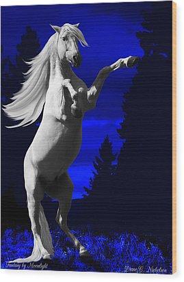 Fantasy By Moonlight Wood Print by Diane C Nicholson