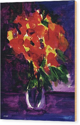 Fantasy Flowers  #107, Wood Print by Donald k Hall