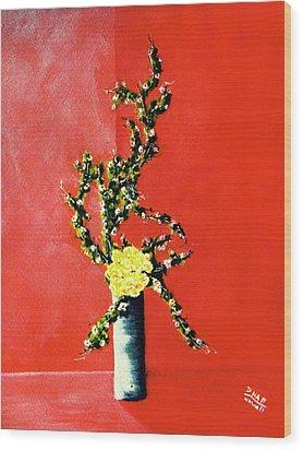 Fantasy Flowers Still Life #162 Wood Print by Donald k Hall