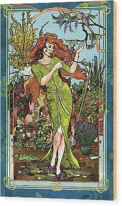 Fantasy Gardening Wood Print