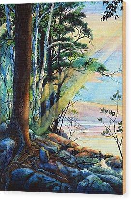 Fantasy Island Wood Print by Hanne Lore Koehler