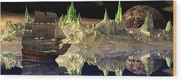 Fantasy Quest Wood Print by Claude McCoy
