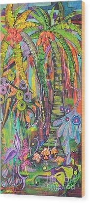 Fantasy Rainforest Wood Print by Lyn Olsen