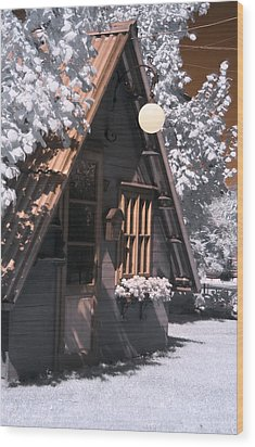 Fantasy Wooden House Wood Print