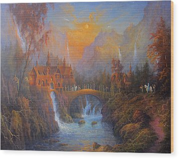 Farewell To Rivendell The Passing Of The Elves Wood Print by Joe  Gilronan